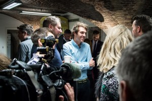 Little Bleeders Charity Launch Event, with cyclist Alex Dowsett